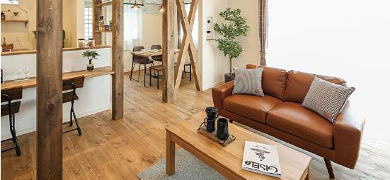 浜松市の工務店、エコーアートが提案する家具カーテンの写真