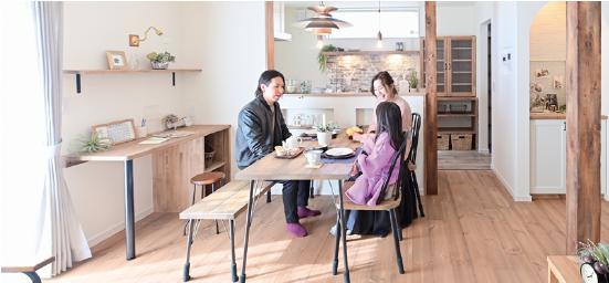 浜松市の工務店、エコーアートの家のお引渡し写真