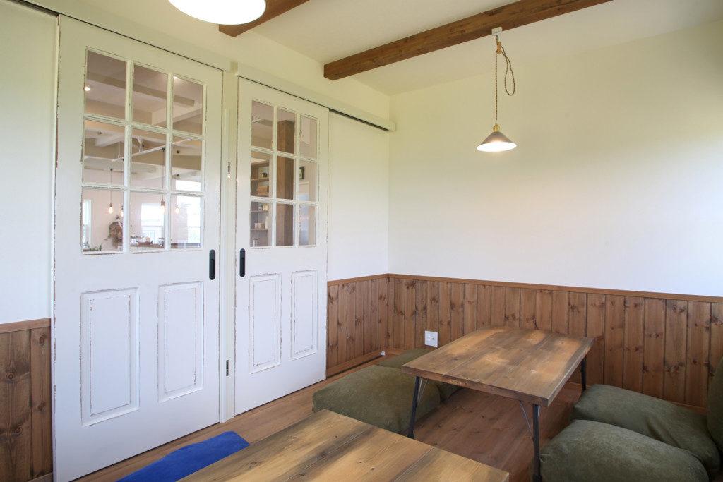 浜松市西区に建つイタリアンレストラン Kitchen Luceの個室内観写真