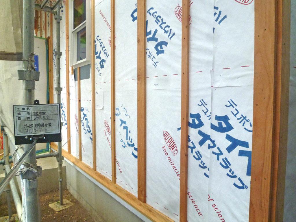 浜松市で輸入住宅はエコーアートの施工中の工事写真