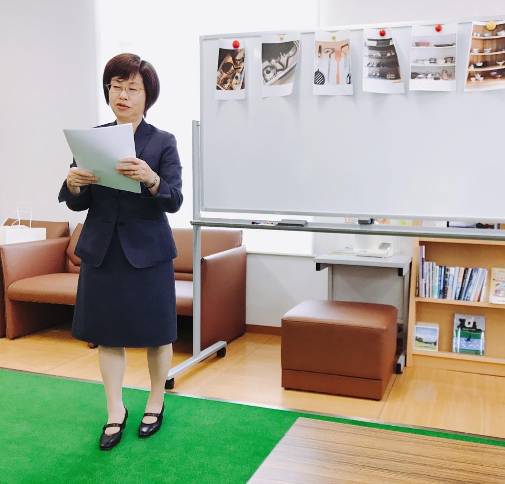 浜松市の注文住宅会社のエコーアートが主催するおけいこイベント断捨離教室の先生紹介写真
