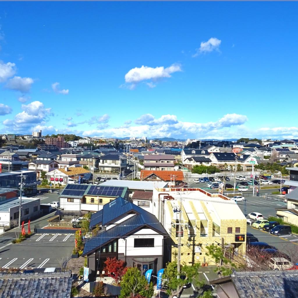 浜松市で塔がある家が得意なエコーアートが撮影した塔の上からの風景写真