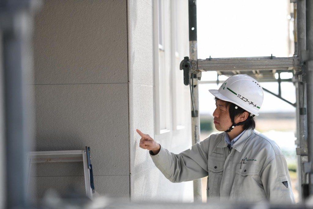 浜松市の工務店のエコーアート写真が現場管理している写真