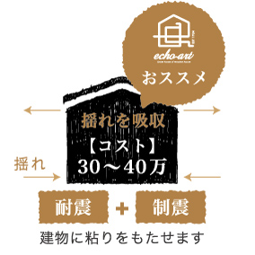浜松市で地震に強い家づくりをしているエコーアートの考える制震構造イメージ