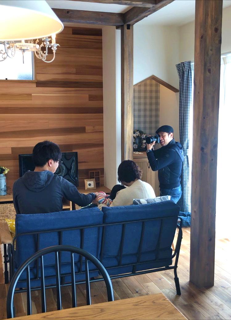 浜松市の注文住宅会社のエコーアートの写真撮影風景