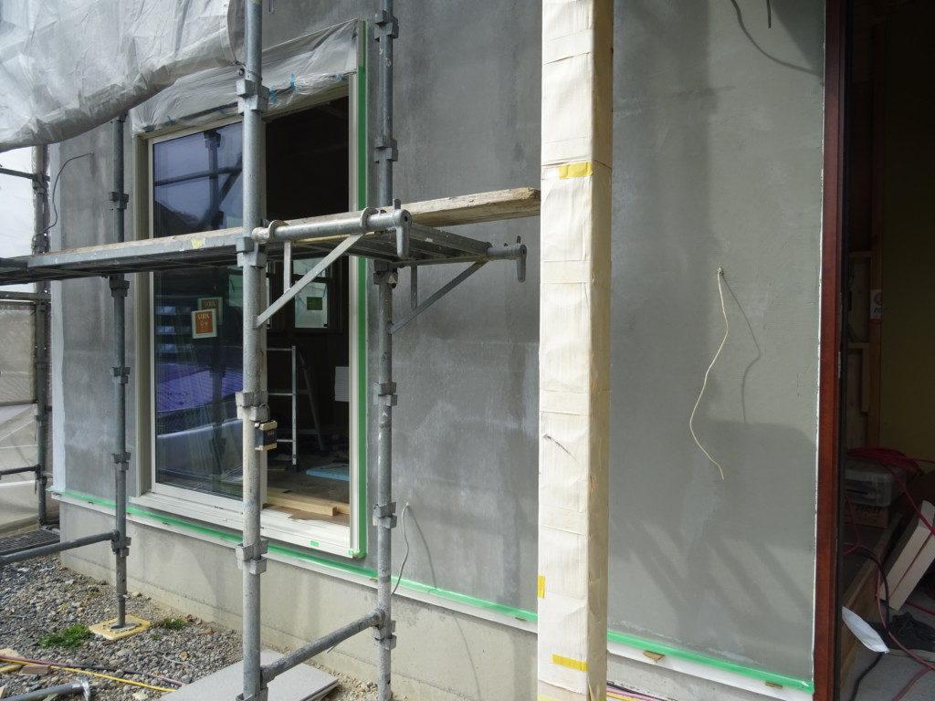 浜松市の塗り壁専門店のエコーアートが施工した塗り壁下地写真