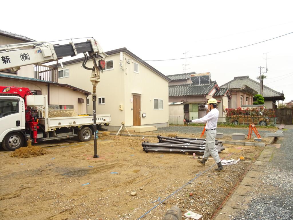 浜松市の注文住宅会社のエコーアートの地盤改良写真