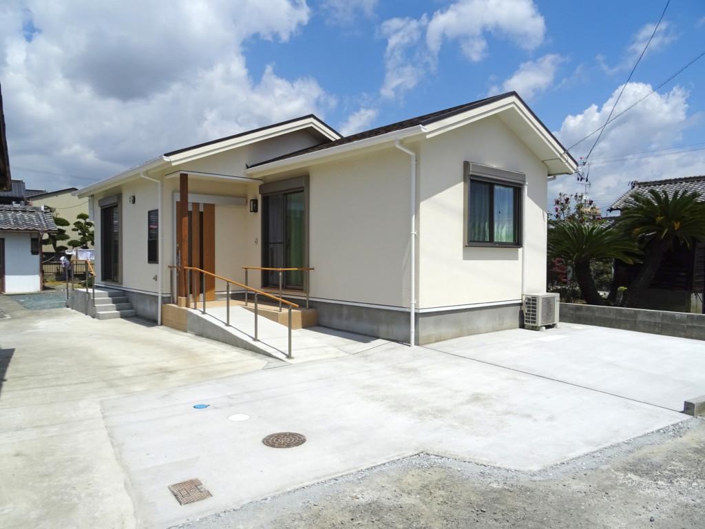 浜松市の注文住宅会社のエコーアートが建てた平屋の施工写真