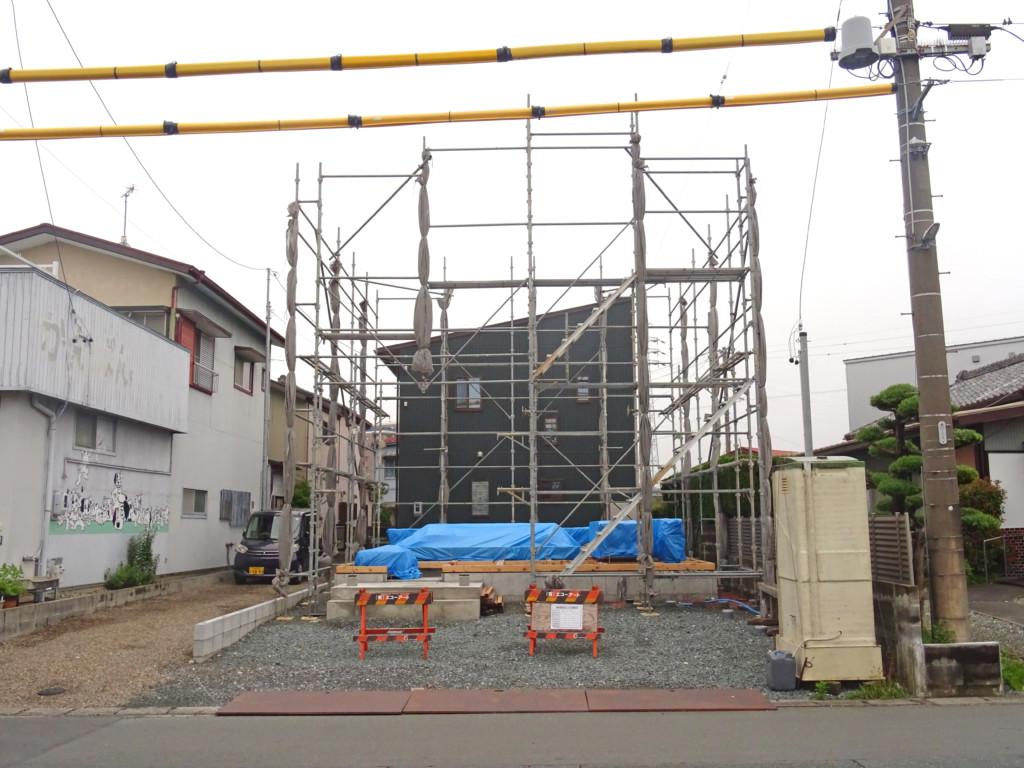 浜松市の注文住宅会社のエコーアートの上棟前の現場写真