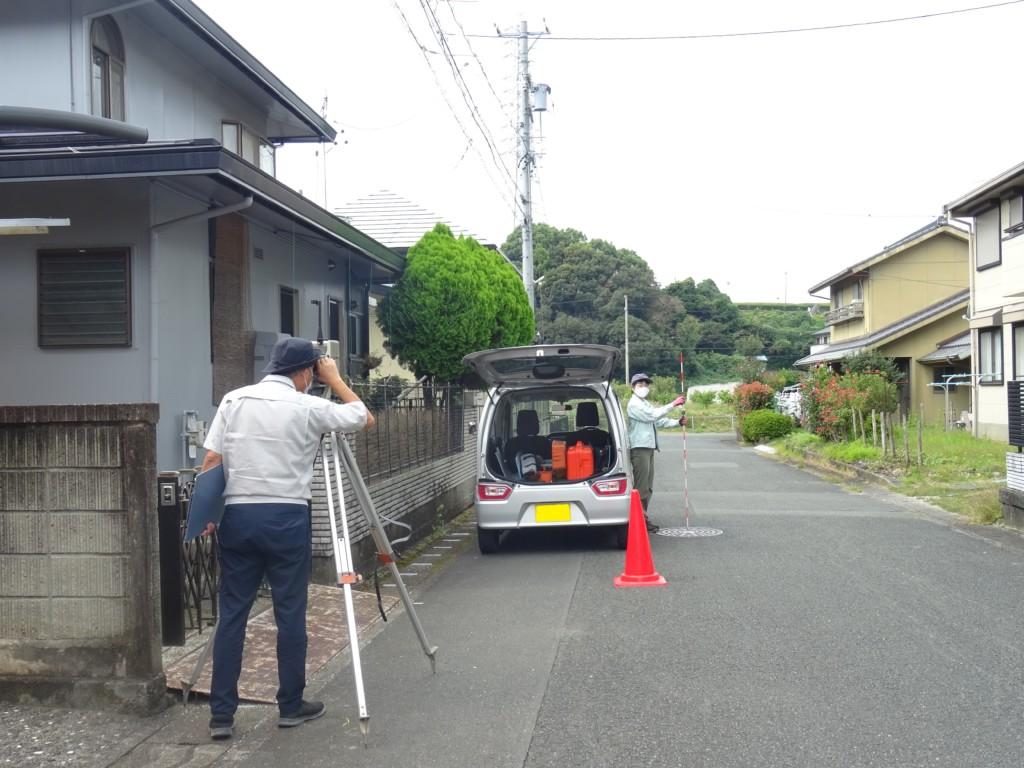 浜松市の注文住宅会社のエコーアートが行う測量写真