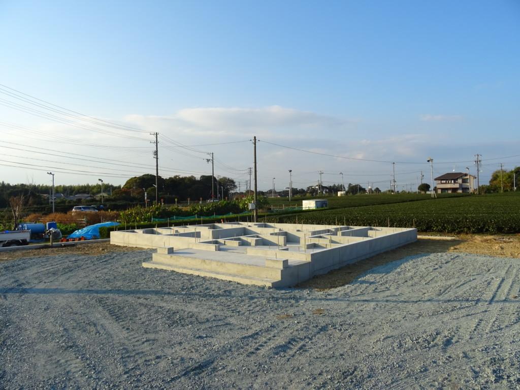 浜松市の注文住宅会社のエコーアートが行った基礎工事の完了写真