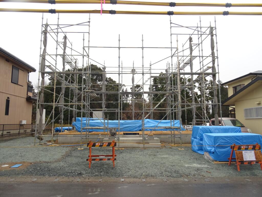 浜松市の注文住宅会社のエコーアートが行う上棟準備写真