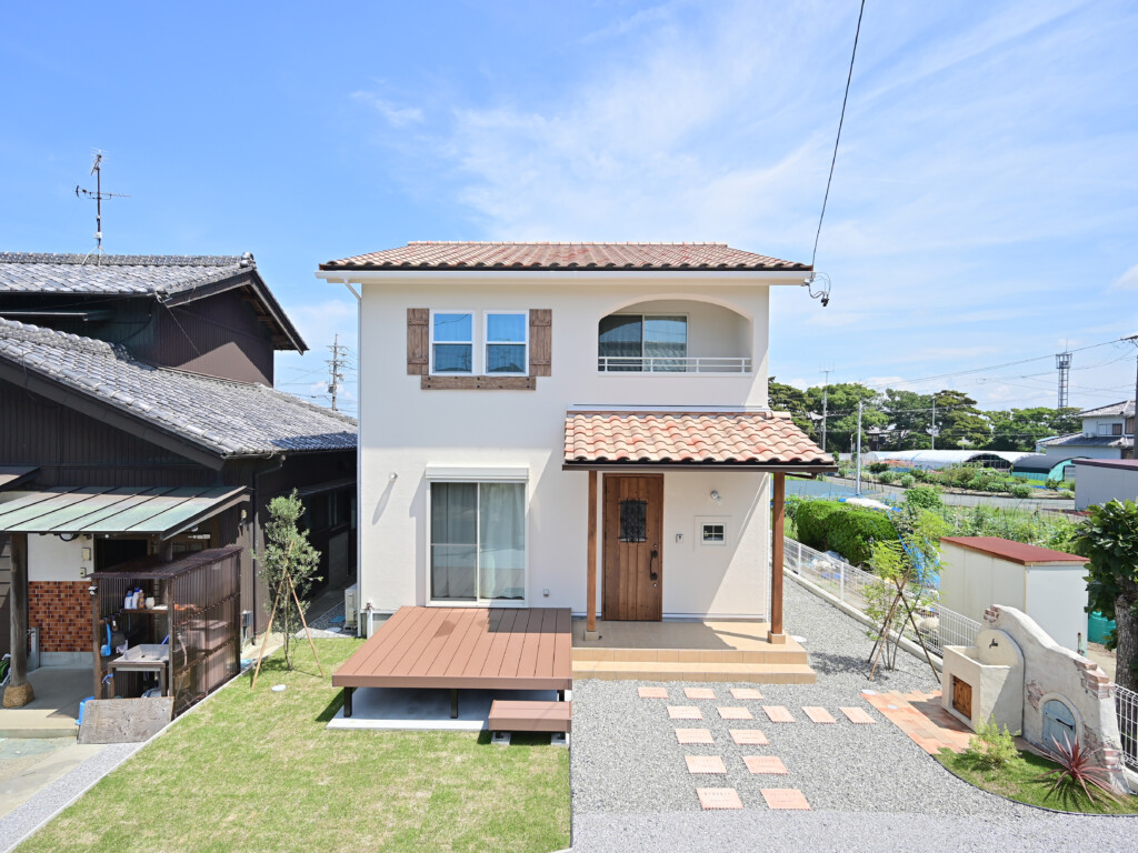 浜松市の注文住宅会社の工務店のエコーアートが行う完成見学会の外観写真